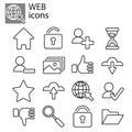 Icons set - Basic web icons, web communication