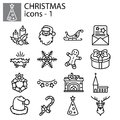 Icons set. Christmas and New Year