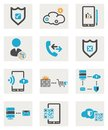 Web icons set computer for your website Royalty Free Stock Image