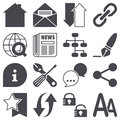 Web icons set concepts pictograms Stock Photography