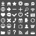 Web icons set this is file of eps format Stock Photography