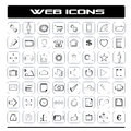 Web icons set modern social network mobile Royalty Free Stock Photo