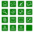 Web icons set no.2 - green.2 Royalty Free Stock Images