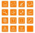 Web icons set no.2 - orange.2 Stock Photography