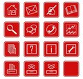 Web icons set no.2 - red.1 Royalty Free Stock Photo
