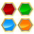 Web icons set rhombic four on a white background Stock Photo