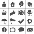 Web icons set - Simplus series Stock Image