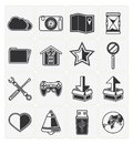Web icons set vector black color Royalty Free Stock Photo
