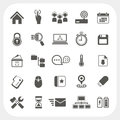 Web icons set on white background eps don t use transparency Stock Photos