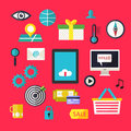 Web infographics icons set for business site, presentations etc. Royalty Free Stock Photo
