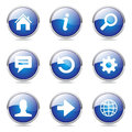 Web Internet Blue Vector Button Icon Set Royalty Free Stock Photo