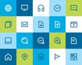 Web and internet icons flat series Royalty Free Stock Photos