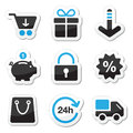 Web / internet icons set - shopping Royalty Free Stock Photo