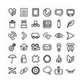 Web line icon set thin icons this is file of eps format Royalty Free Stock Photo