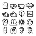 Web line icons, Website navigation flat design icon collection - users, blog, store Royalty Free Stock Photo