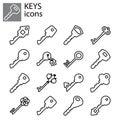 Line set. Keys icon