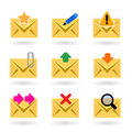 Web mail icons Stock Photography