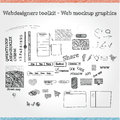 Web mockup graphics a collection of mixed Stock Photo