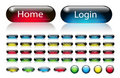 Web navigation buttons set Stock Photography