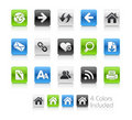 Web Navigation Icons // Clean Series Royalty Free Stock Photo