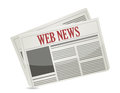 Web news newspaper illustration design over a white background Royalty Free Stock Image