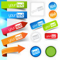 Web page Sticker Designs Royalty Free Stock Photo