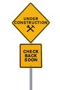 Web Page Under Construction Royalty Free Stock Photo