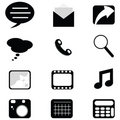 Web/phone icons Royalty Free Stock Image