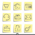 Web post it icons..series no.19 Stock Images
