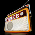 Web radio d illustration of a Royalty Free Stock Photography