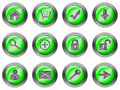Web round buttons green Stock Photo