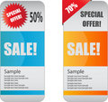 Web sale banners Royalty Free Stock Images