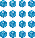 Web Search Cube Icon Series Se Royalty Free Stock Photo