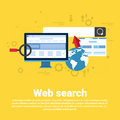 Web Search Digital Content Information Technology Business Web Banner Royalty Free Stock Photo