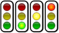 Web security traffic ligths buttons Stock Photography