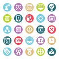 Web, SEO, Tools and Digital Marketing Two Color Glyph Vectors Isolated editable Icons Pack Royalty Free Stock Photo