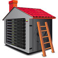 Web server rack Stock Photography