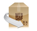 Web shop box illustration design over a white background Stock Photo
