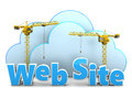 Web site building Royalty Free Stock Photo