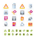 Web site and computer Icons Royalty Free Stock Photo