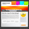 Web site design template. Royalty Free Stock Photo