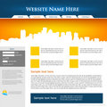 Web site design template. Stock Photography