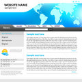 Web site design template. Stock Images