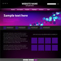Web site design template. Stock Photos