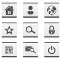 Web site icons set and internet illustration Royalty Free Stock Photography