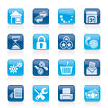 Web Site and Internet icons Stock Images