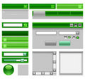 Web site theme - green. Stock Photo