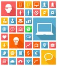 Web and soft icon set vector eps Royalty Free Stock Photography