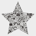 Web star pattern cartoon vector illustration Royalty Free Stock Photos