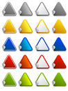 Web stickers, labels and icons - triangle Royalty Free Stock Image